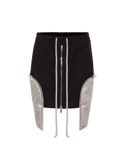 Mini-jupe asymétrique Ies en coton Rick Owens en coloris Black
