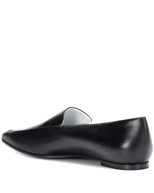 d1c33457c21 ... The Row - Black Minimal Leather Loafers - Lyst ...