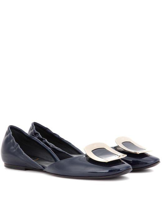 Roger Vivier | Blue Chips Patent Leather Ballerinas | Lyst