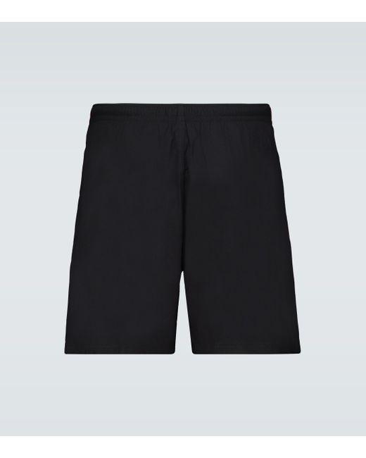 Alexander McQueen Black Badeshorts aus Tech-Material