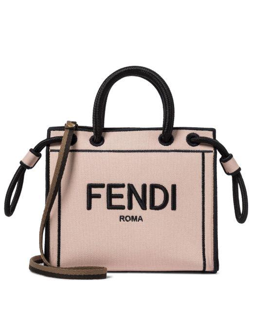 Borsa Roma Mini in canvas di Fendi in Multicolor