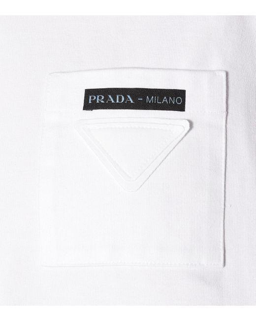 Prada White T-Shirt aus Baumwolle