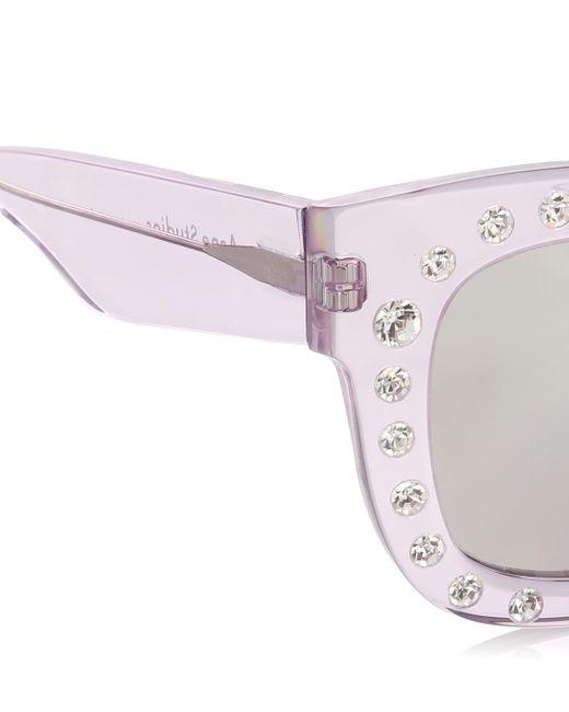 Acne Studios Women's Purple Library Embellished Sunglasses