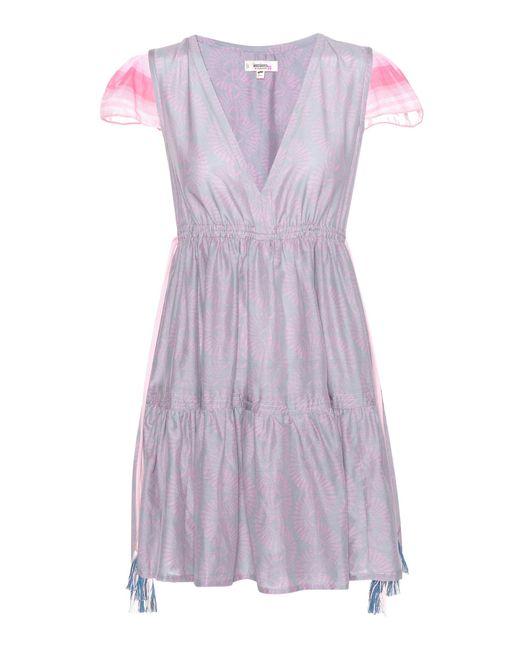 Lemlem - Gray Mbali Cotton And Silk Dress - Lyst