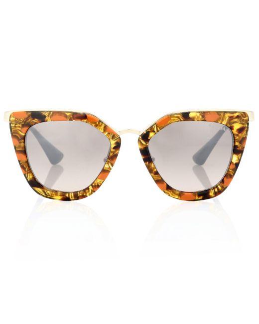 Prada - Brown Cinéma Cat-eye Sunglasses - Lyst