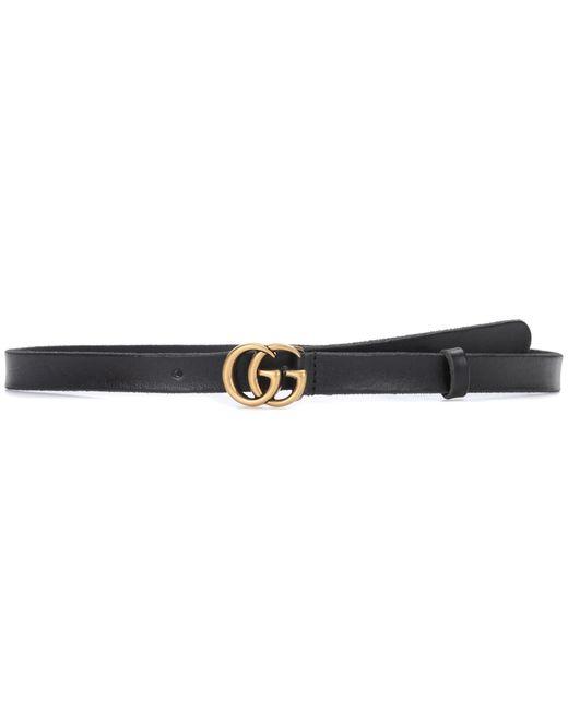 Gucci Black GG Leather Belt