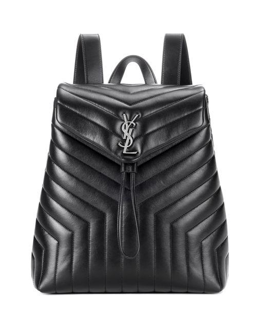Saint Laurent | Black Loulou Medium Monogram Leather Backpack | Lyst
