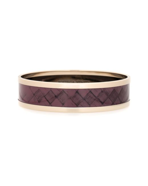 Bottega Veneta - Purple Intrecciato-printed Bangle - Lyst