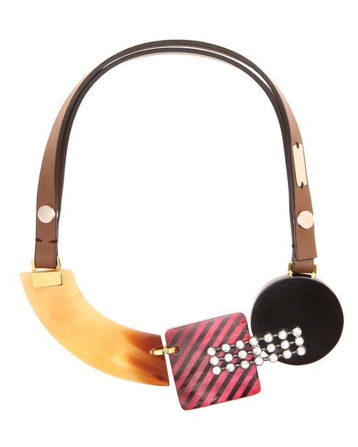 Marni - Red Crystal-embellished Necklace - Lyst