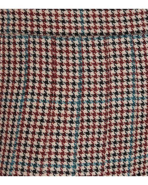 Gonna in lana pied de poule di Off-White c/o Virgil Abloh in Multicolor