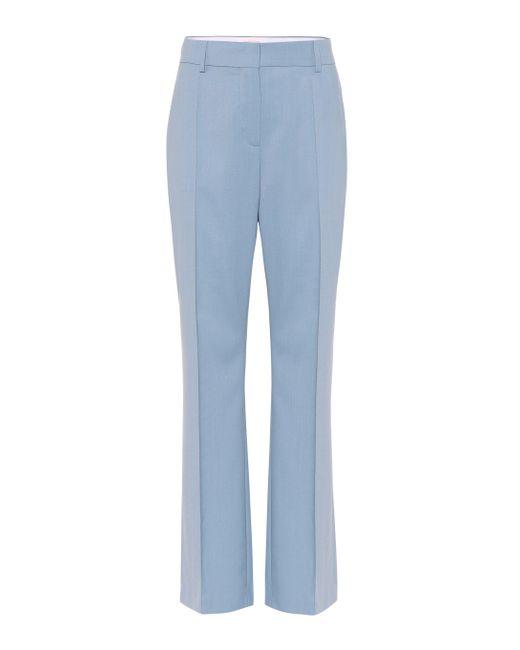 Pantaloni a vita alta in misto lana di See By Chloé in Blue