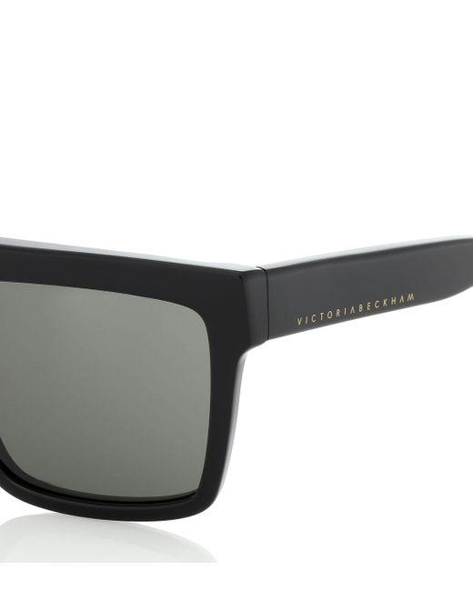 Victoria Beckham Women's Black Flat Top Visor Sunglasses