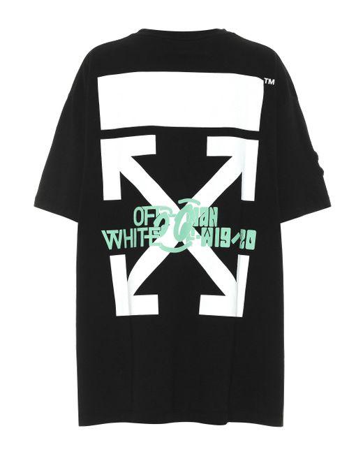 Off-White c/o Virgil Abloh Black Waterfall Oversized Cotton T-shirt