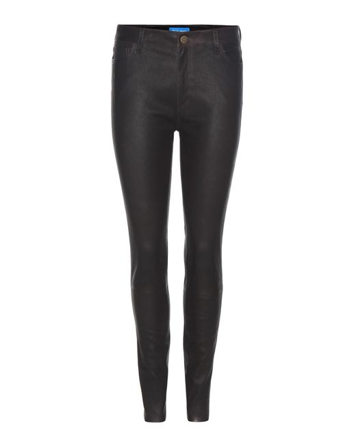MiH Jeans   Brown Leather Skinny Trousers   Lyst
