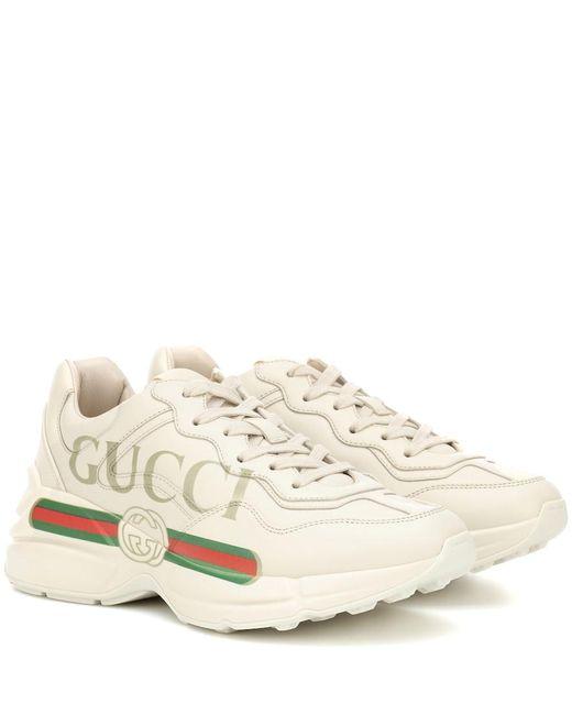 Sneaker Rhyton uomo di Gucci in White da Uomo