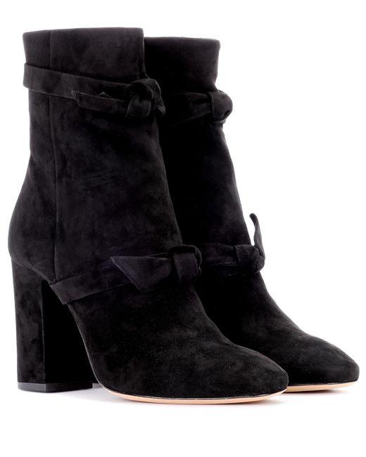 Alexandre Birman - Black Suede Ankle Boots - Lyst