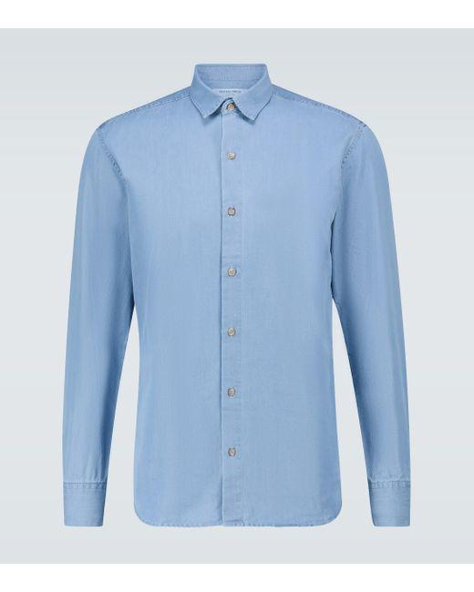 Frescobol Carioca Blue Hemd aus Baumwolle