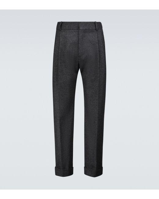 Pantaloni in lana di Alexander McQueen in Gray da Uomo