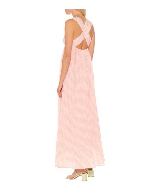 Exclusivité Mytheresa – Robe longue East Hampton en coton Marysia Swim en coloris Pink