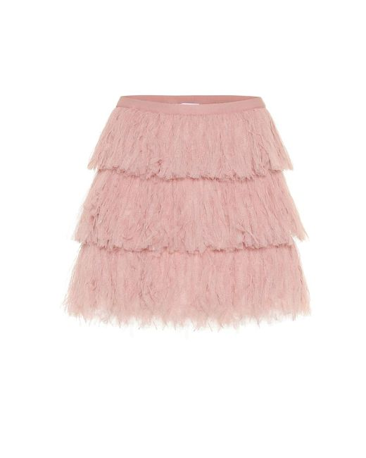 Minigonna in tulle di RED Valentino in Pink