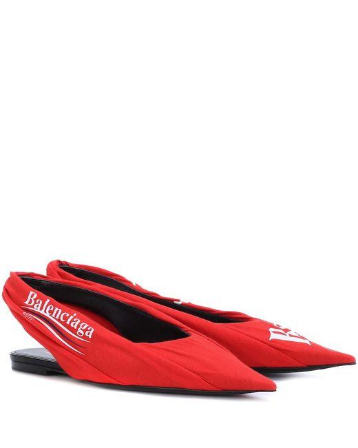 Balenciaga - Red Printed Ballerinas - Lyst
