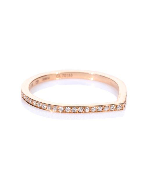 Repossi Metallic Antifer 18kt Rose Gold Ring With White Diamonds