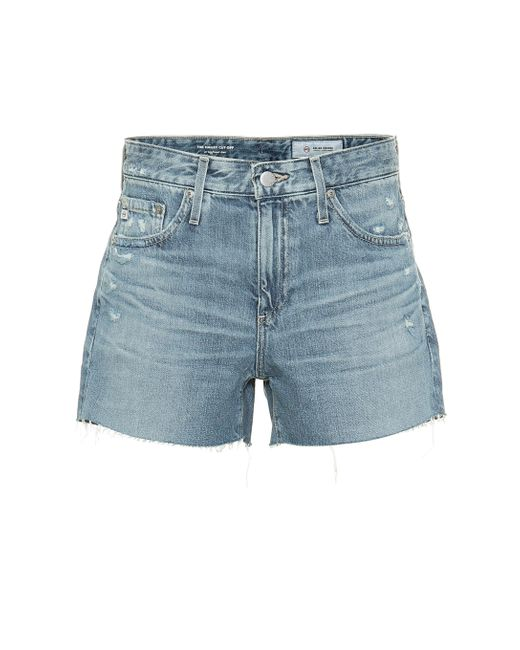 AG Jeans Blue High-Rise Jeansshorts Hailey
