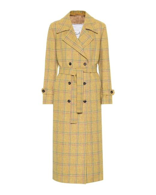 Cappotto Christie in lana di Giuliva Heritage Collection in Yellow