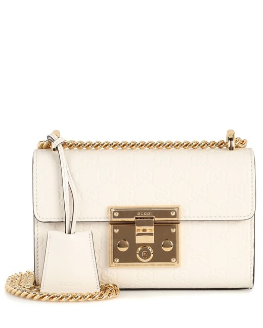 Gucci - White Padlock Small Leather Shoulder Bag - Lyst
