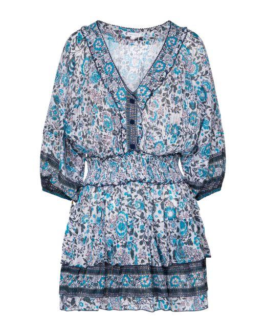 Exclusivo en Mytheresa – vestido corto Ariel floral Poupette de color Blue