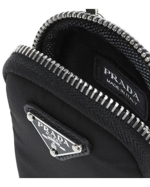 Portamonete a tracolla in nylon di Prada in Black