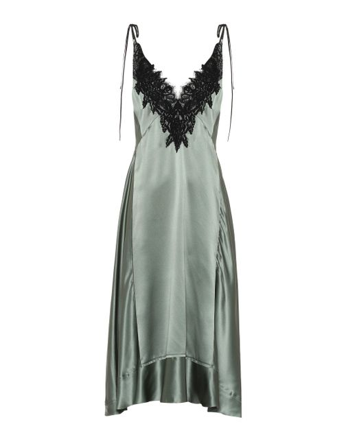 Vestido lencero Satin Seduction de seda Dorothee Schumacher de color Green