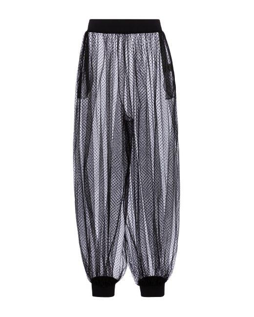 Pantalones de tul point d'esprit Alexandre Vauthier de color Black