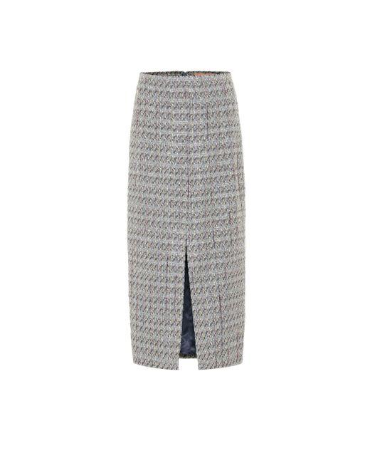 Falda de tweed Brock Collection de color Gray