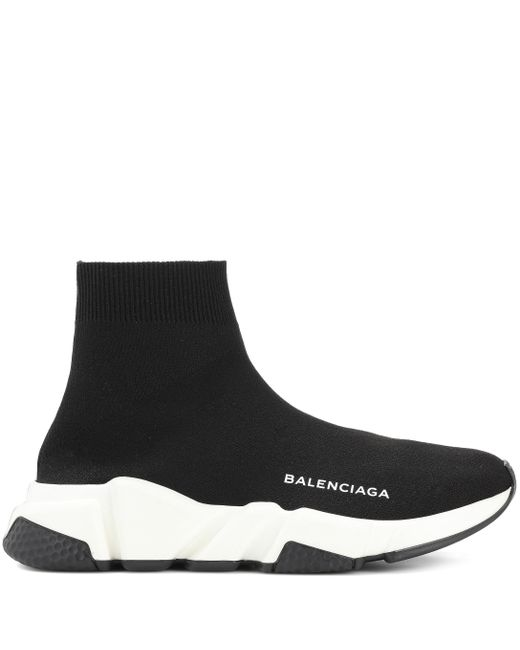 Balenciaga Black Speed High-top-sneakers Aus Stretch-strick