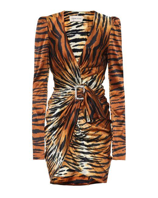 Alexandre Vauthier Multicolor Wrap Dress