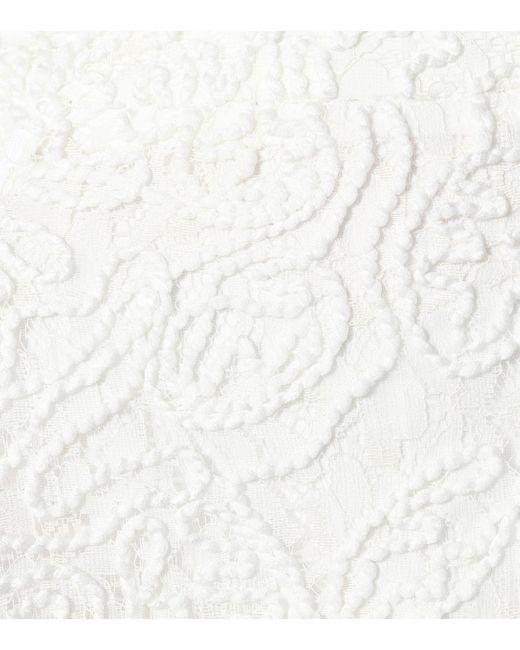 Jupe longue en dentelle Maticevski en coloris White