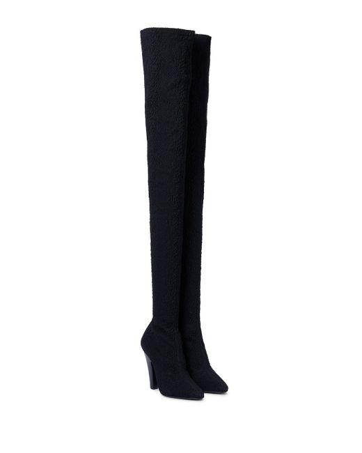 Saint Laurent Black 68 Stretch-canvas Over-the-knee Boots