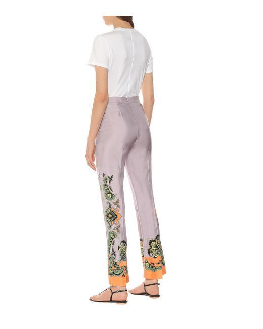 Pantalon à motif cachemire Etro en coloris Purple
