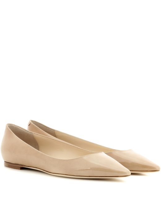 Jimmy Choo - Natural Romy Patent Leather Ballet Flats - Lyst