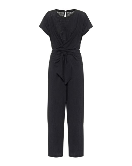 Velvet Black Mora Cotton Jumpsuit