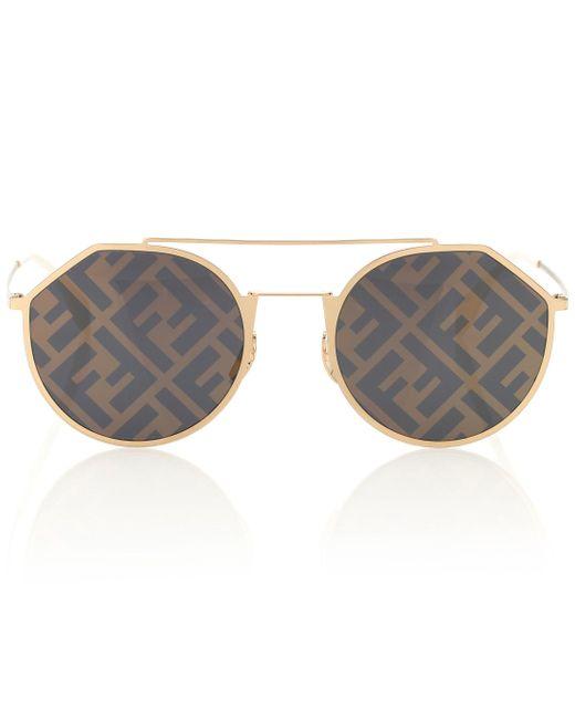 Fendi Brown Eyeline Logo Sunglasses