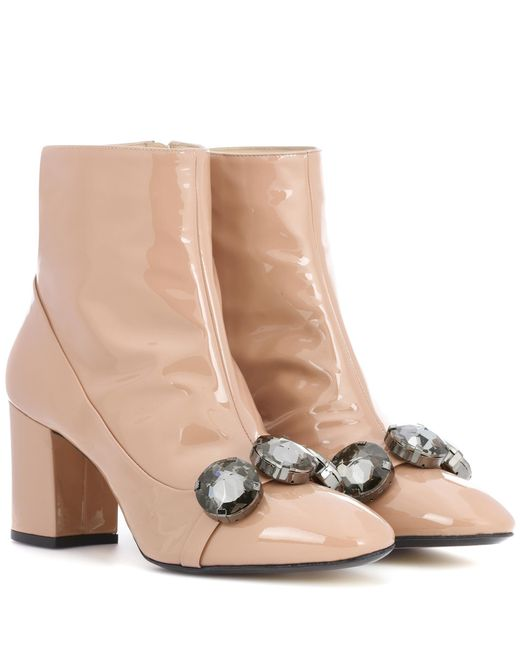N°21 - Natural Tino 100 Patent Leather Ankle Boots - Lyst