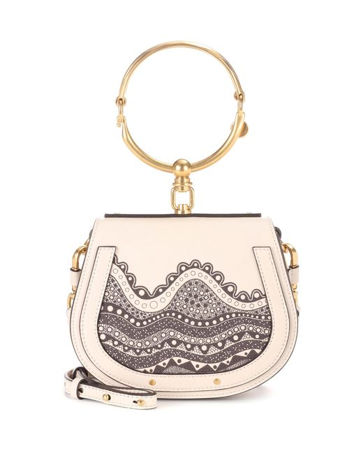 Chloé - White Exclusive To Mytheresa. Com – Small Nile Leather Crossbody Bag - Lyst