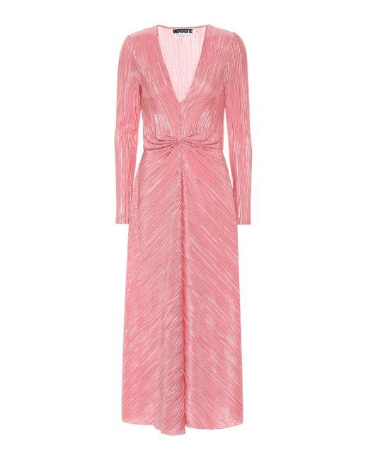 Robe mi-longue à design plissé ROTATE BIRGER CHRISTENSEN en coloris Pink