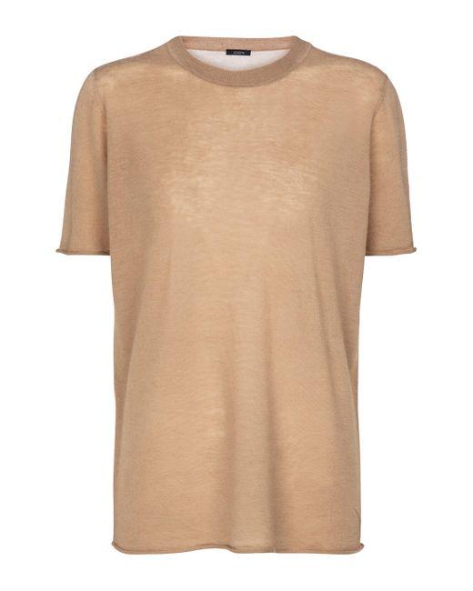 Joseph Natural T-Shirt Cashair aus Kaschmir