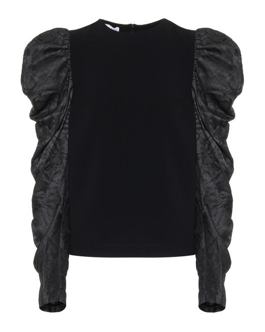 Rejina Pyo Top Roberta en mezcla de seda de mujer de color negro