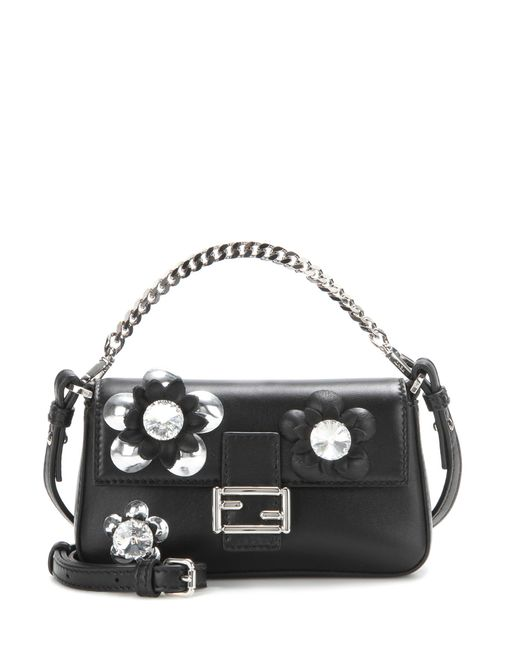Fendi - Black Micro 'baguette' Crossbody Bag - Lyst