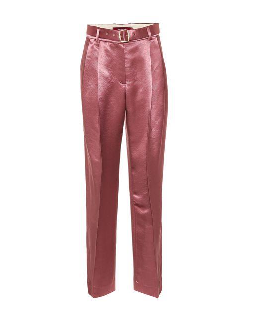 Sies Marjan Pink Hose Blanche aus Satin
