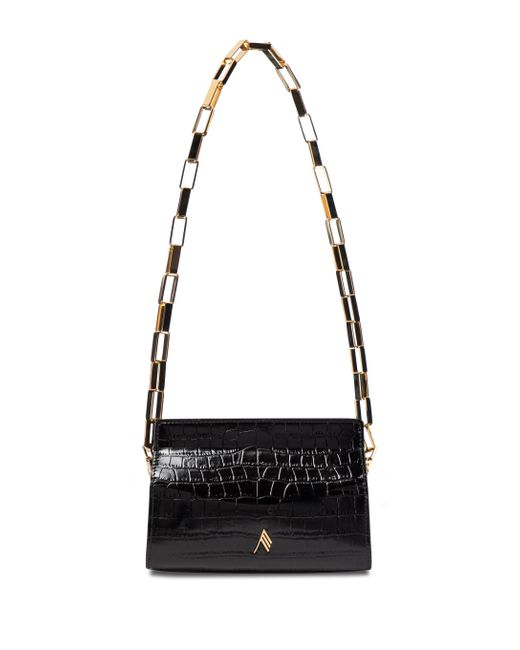 The Attico Black Wynona Leather Shoulder Bag